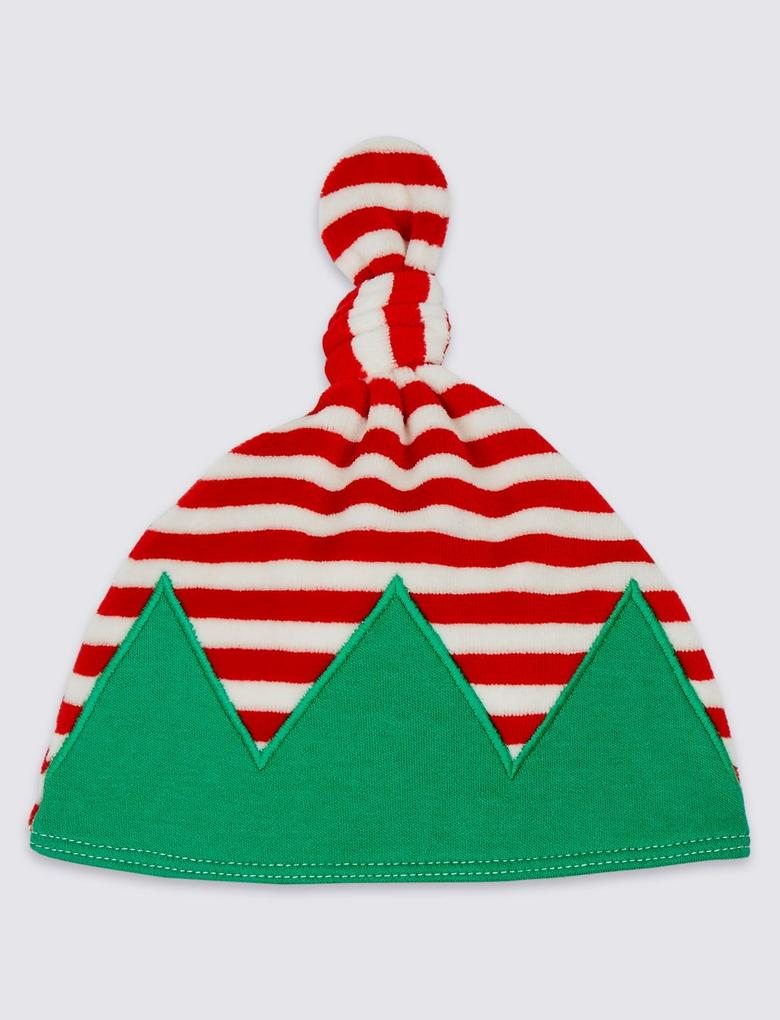 Pamuklu Elf Tulum ve Şapka Takımı