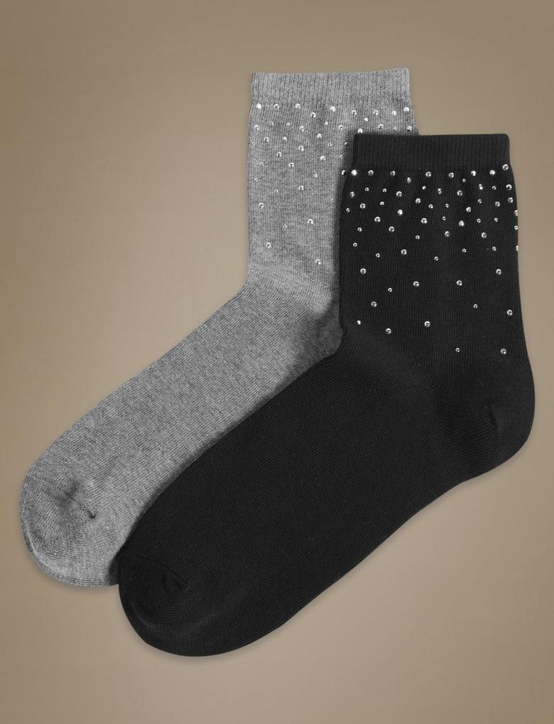 Siyah 2'li Çorap Seti
