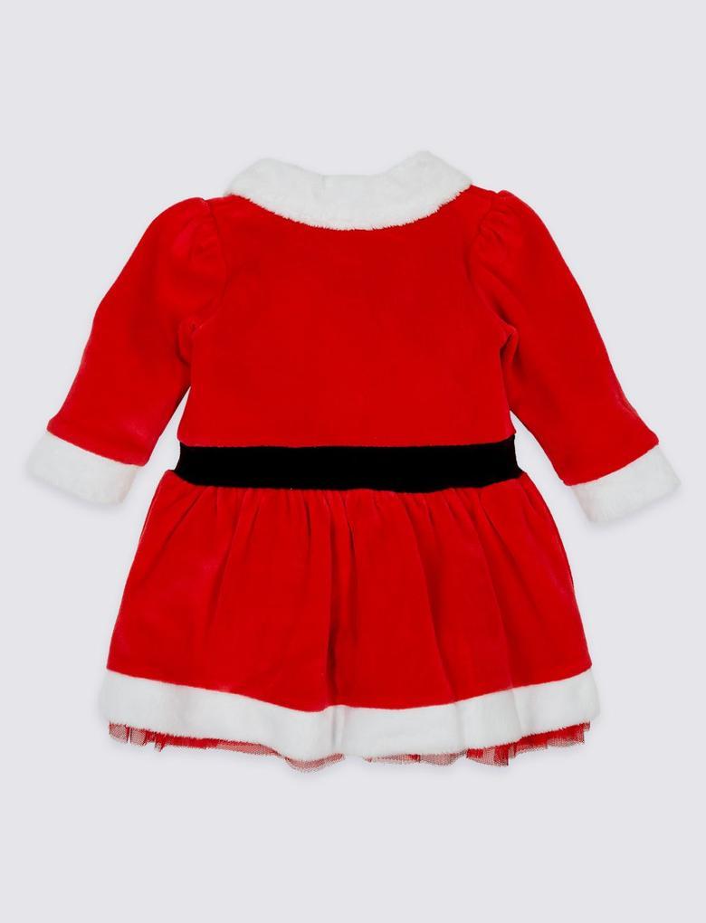 2'li Noel Baba Elbise ve Külotlu Çorap Takımı