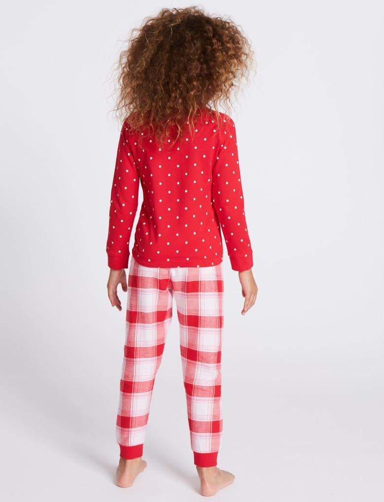 Geyik Desenli Pijama Takımı (9 Ay - 8 Yaş)