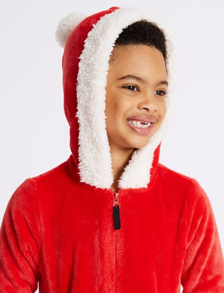 Noel Baba Kapüşonlu Tulum (3 -16 Yaş)