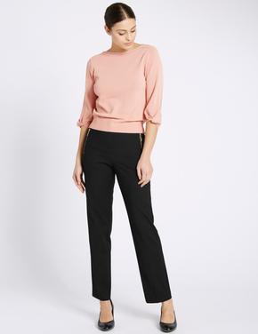 Fermuar Cepli Straight Pantolon