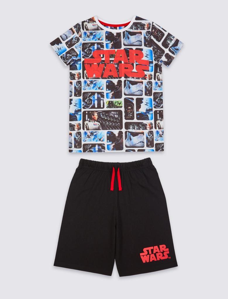 Pamuklu Star Wars™ Şort Pijama (4 - 16 Yaş)