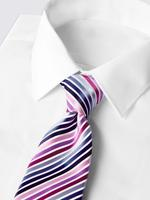Çizgili Saten Kravat