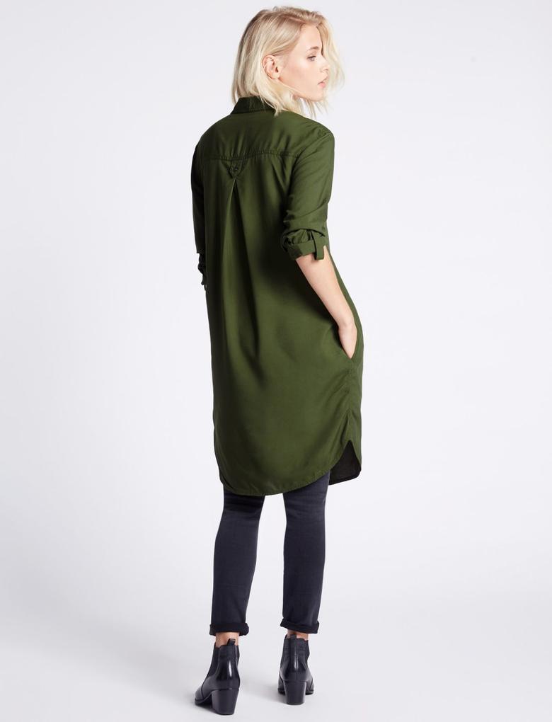 Uzun Kollu Uzun Elbise