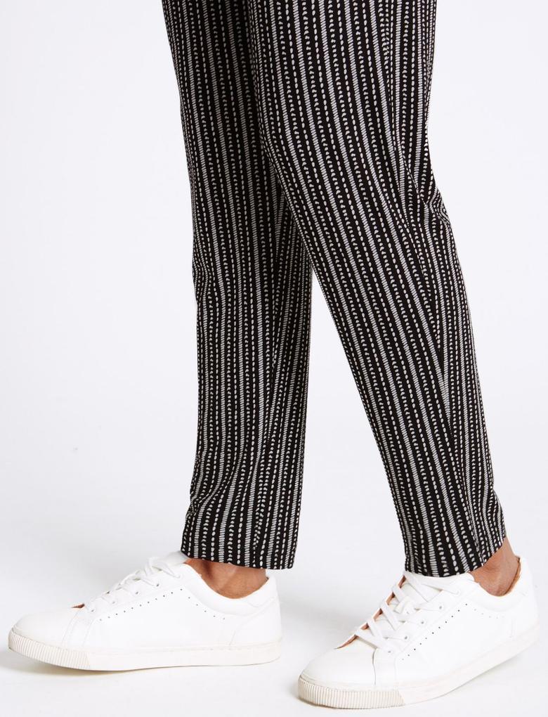 Desenli Jarse Slim Pantolon