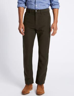 Regular Fit Saf Pamuklu Pantolon