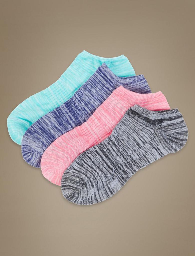 Multi Renk 4'lü Çorap Seti