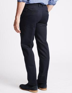 Pamuklu Slim Fit Streç Chino Pantolon