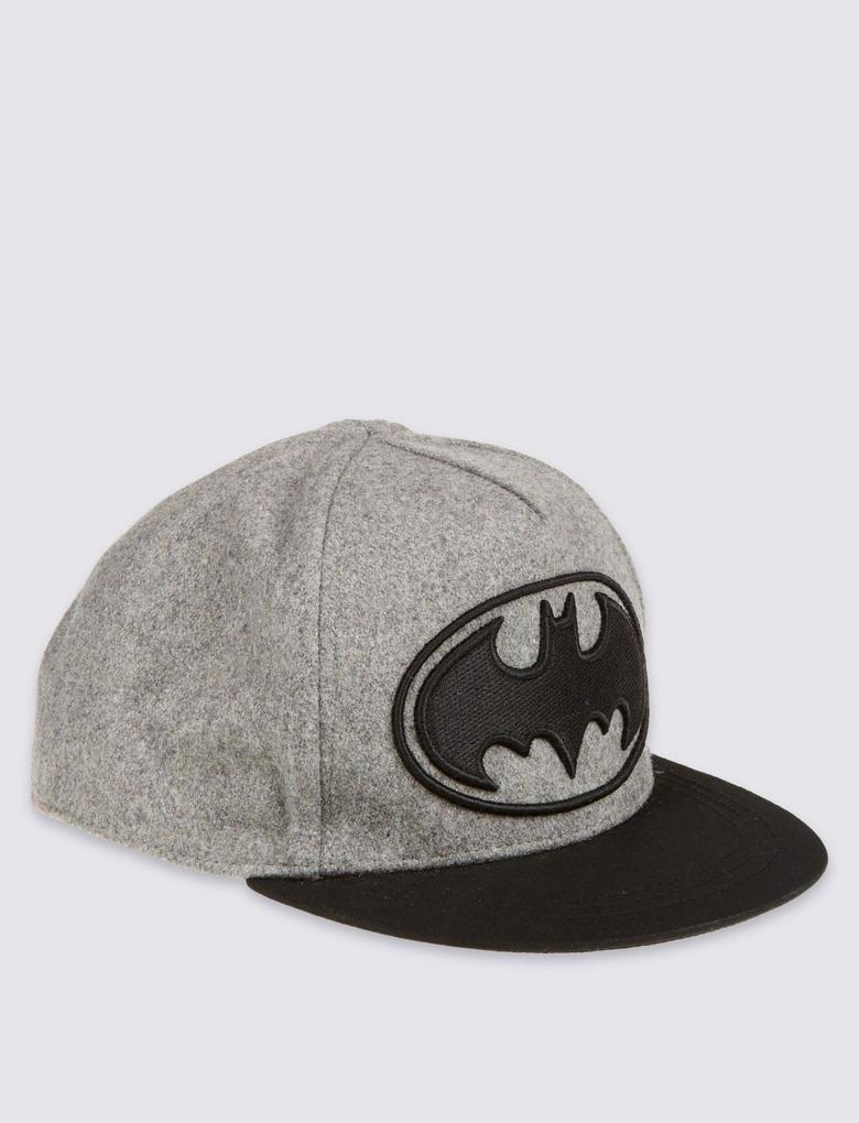 Yün Karışımlı Batman Çocuk Şapka