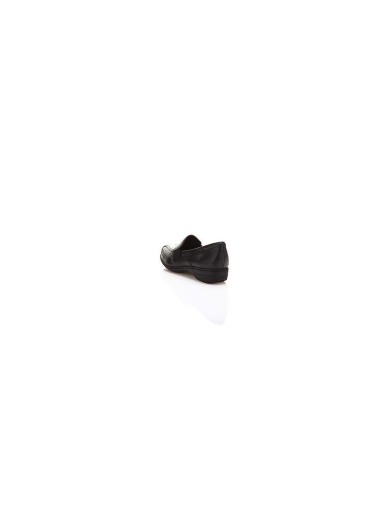 Geniş Kalıplı Kısa Topuklu Loafer Ayakkabı