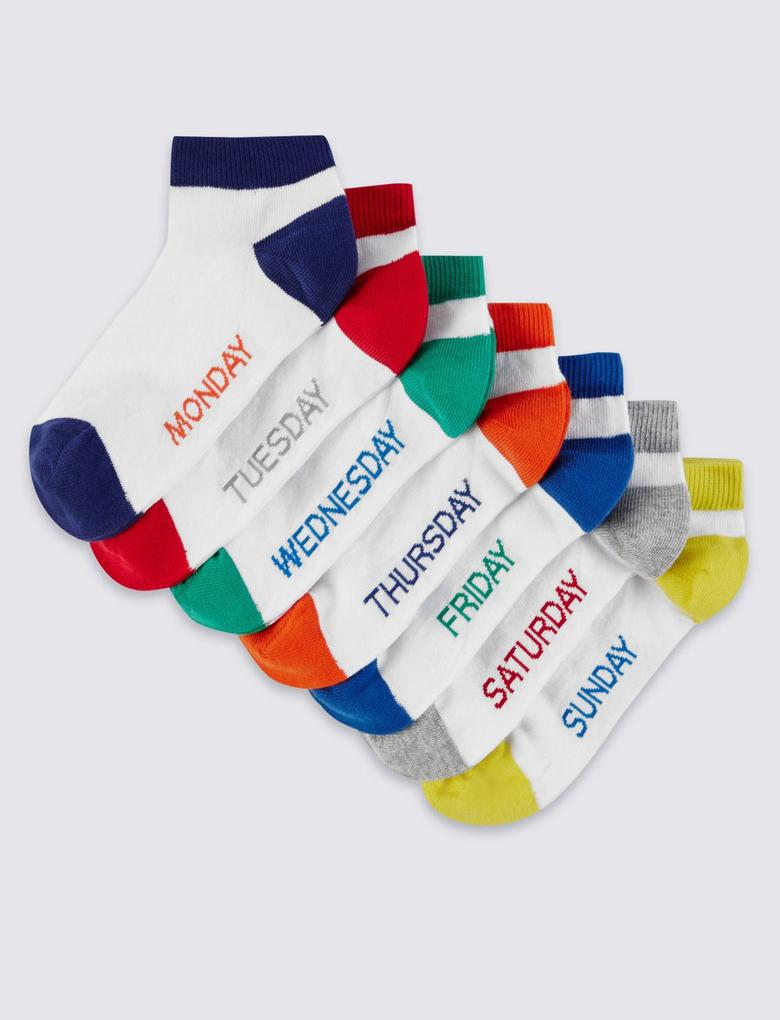 7'li Freshfeet™ Pamuklu Çorap (5 - 14 Yaş)