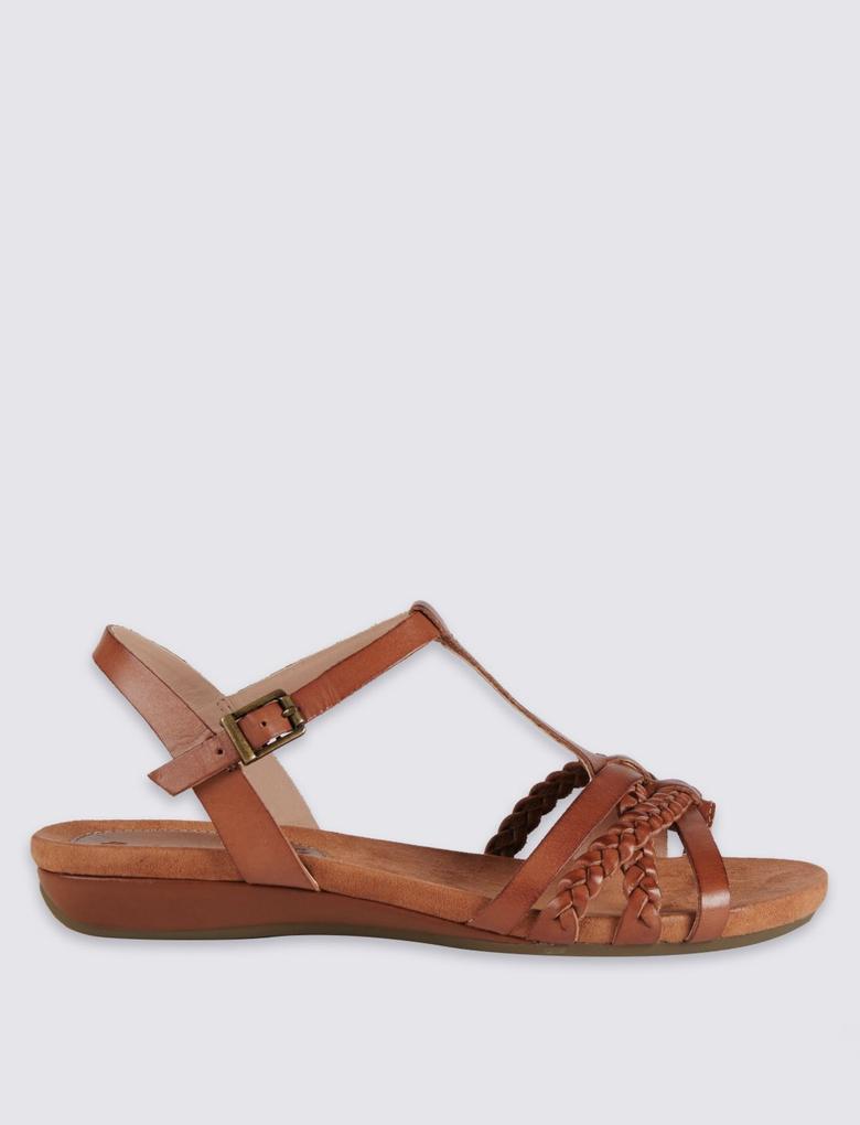 Bej Deri Açık Ayakkabı