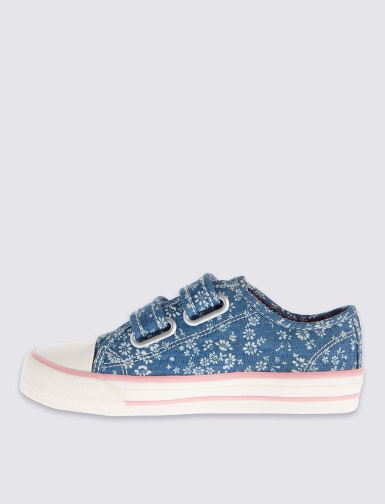 Mavi Cırt Cırtlı Çocuk Spor Ayakkabı