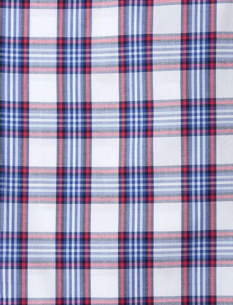 Saf Pamuklu Yumuşak Kareli Pijama