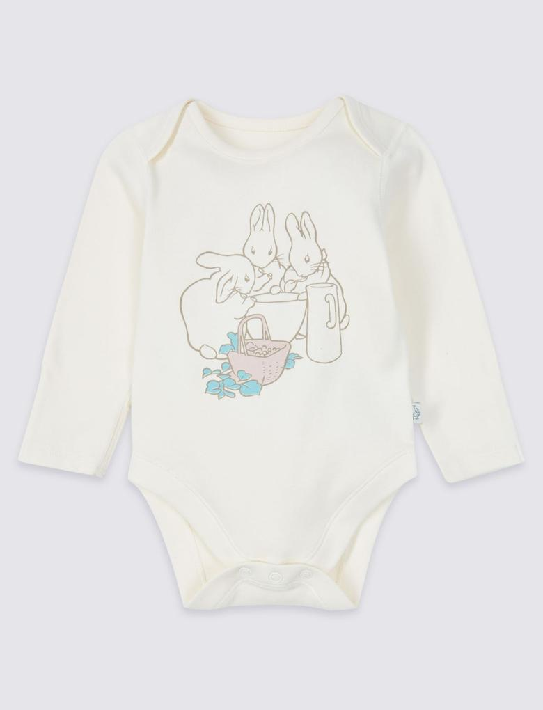 Pembe Peter Rabbit™ 3'lü Saf Pamuklu Body