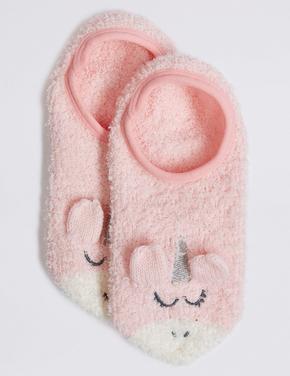 Kız Çocuk Multi Renk Unicorn Babet Çorap