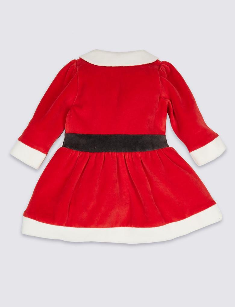 Kırmızı Elbise ve Külotlu Çorap Takımı