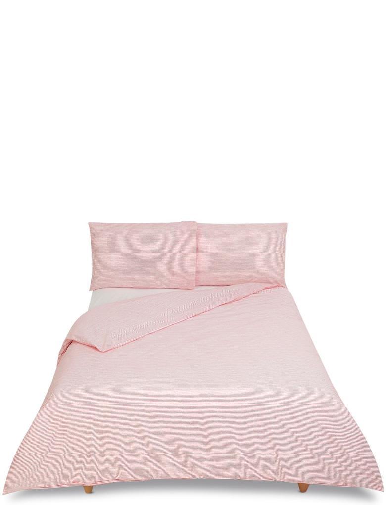 Ev Pembe Çizgili Yatak Takımı