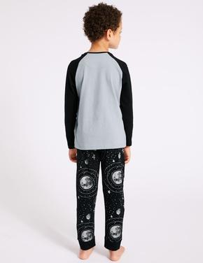 Desenli Saf Pamuklu Pijama