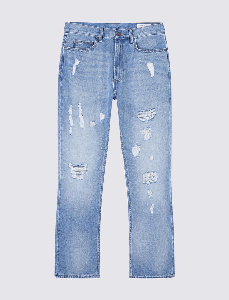 1fb4d523b9780 Erkek Mavi Yırtık Jean Pantolon - T17006537M | Marks & Spencer