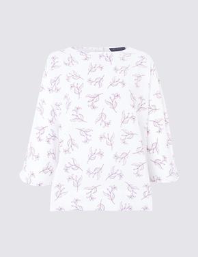 3/4 Kimono Kollu Bluz