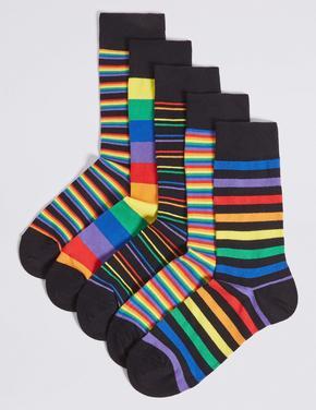 5'li Pamuklu Cool ve Freshfeet™ Çorap Seti