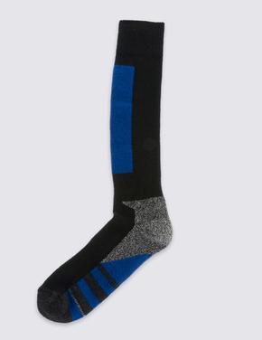 Yün Karışımlı Diz Üstü Kayak Çorabı