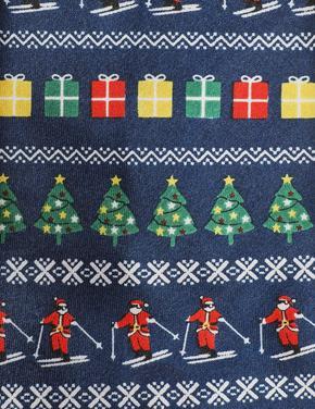 Yanan Işıklı Noel Baba Desenli Kravat