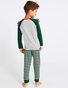 2'li Geyik Desenli Pijama Takımı