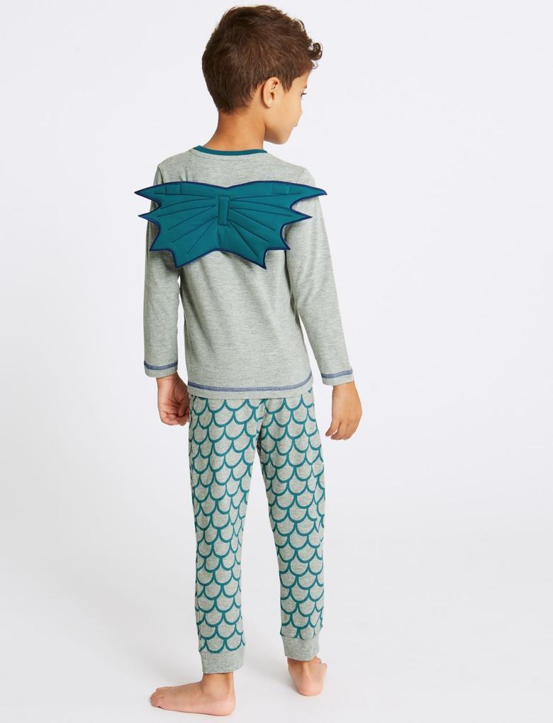 Ejderha Desenli Pijama Takımı