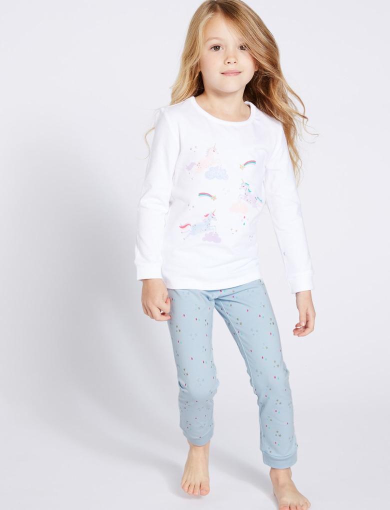 2'li Pamuklu Streç Pijama Takımı
