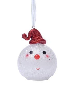 Işıklı Küre Noel Baba Çam Ağacı Süsü