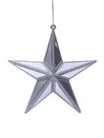 Gümüş Renkli Yıldız Çam Ağacı Süsü
