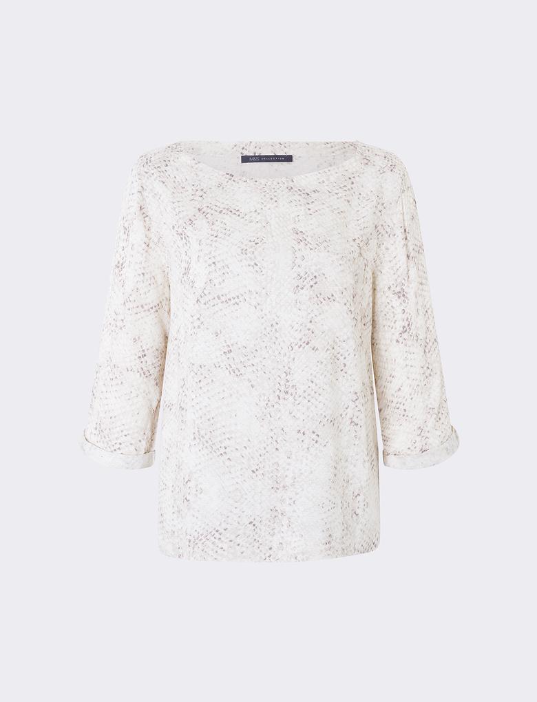 Kadın Krem Kimono Bluz