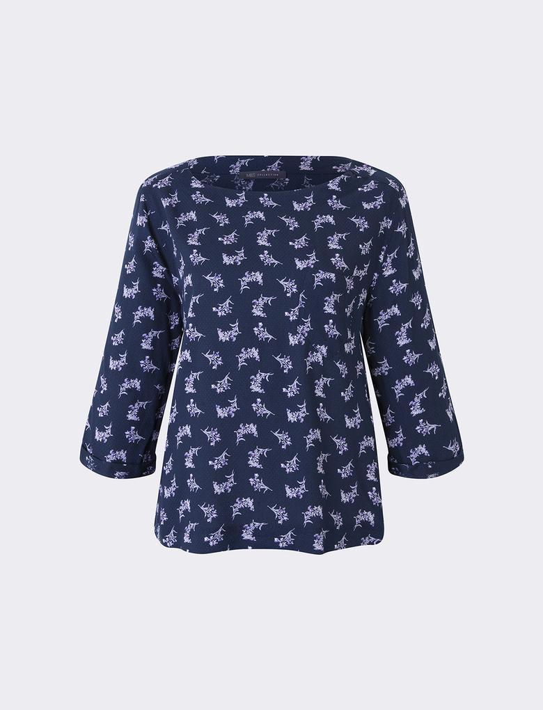 Kadın Lacivert Kimono Bluz
