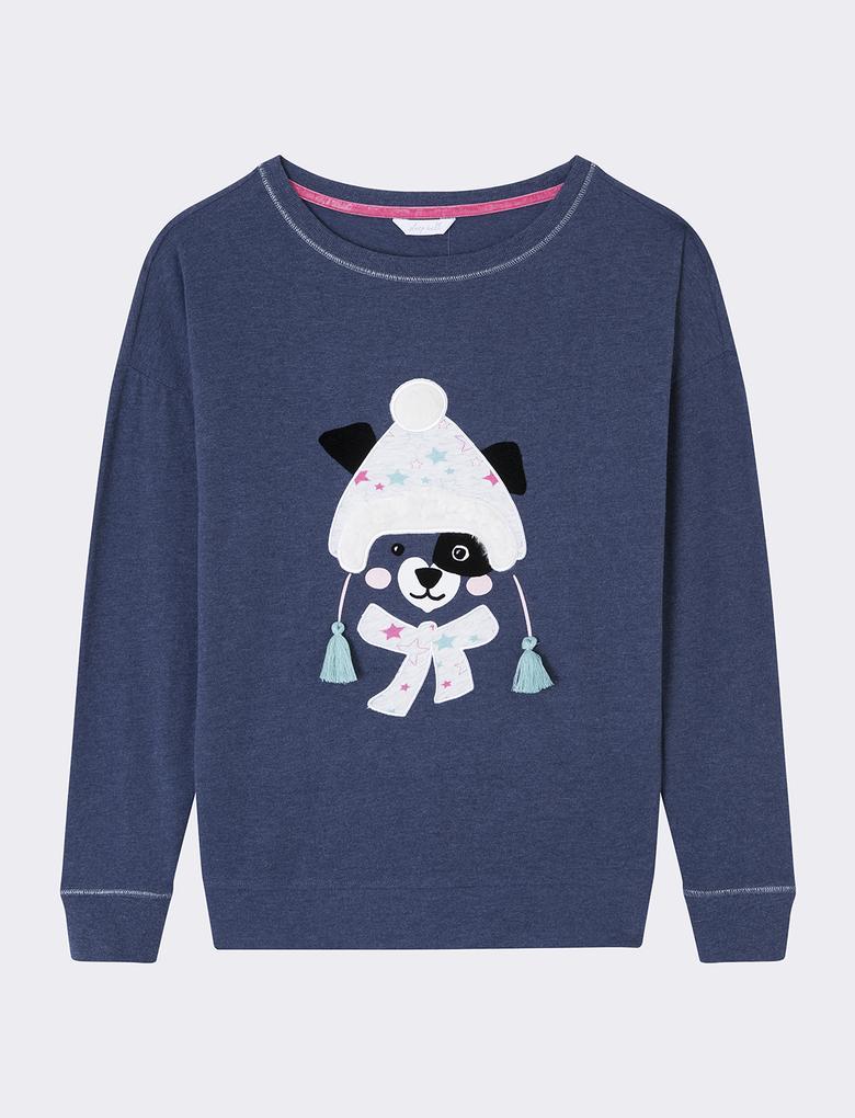 Desenli Pijama Takımı
