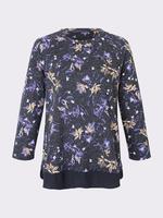 Kadın Siyah Uzun Kollu Çiçekli Bluz
