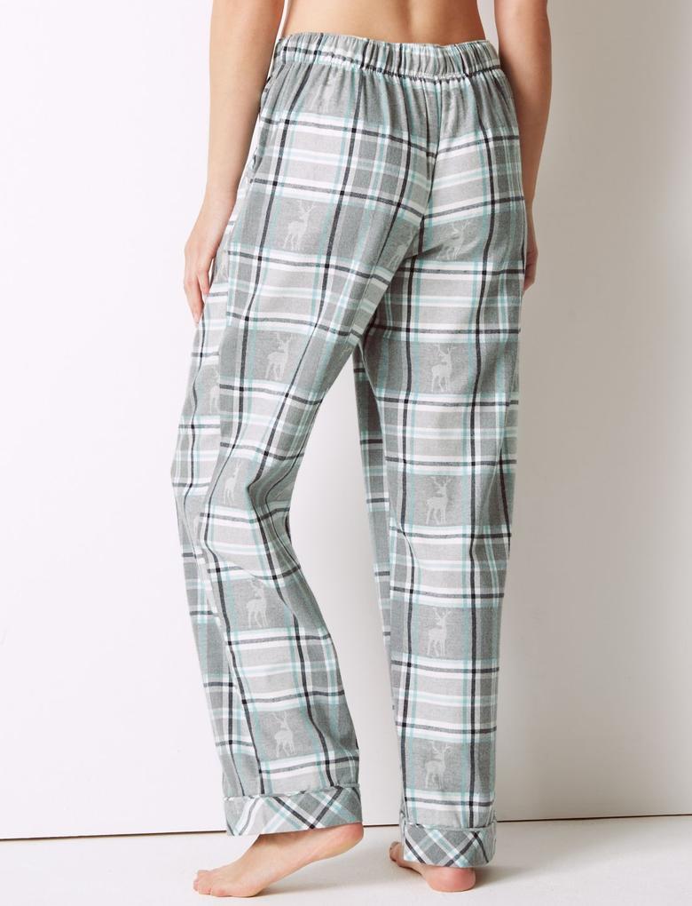 Pijama Takımı Ekose Pijama Altı