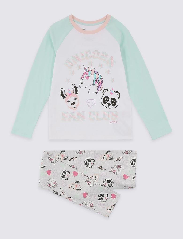 Emoji Desenli Pijama Takımı