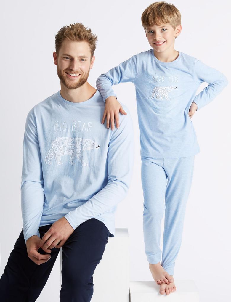 Big Bear Desenli Pijama Takımı