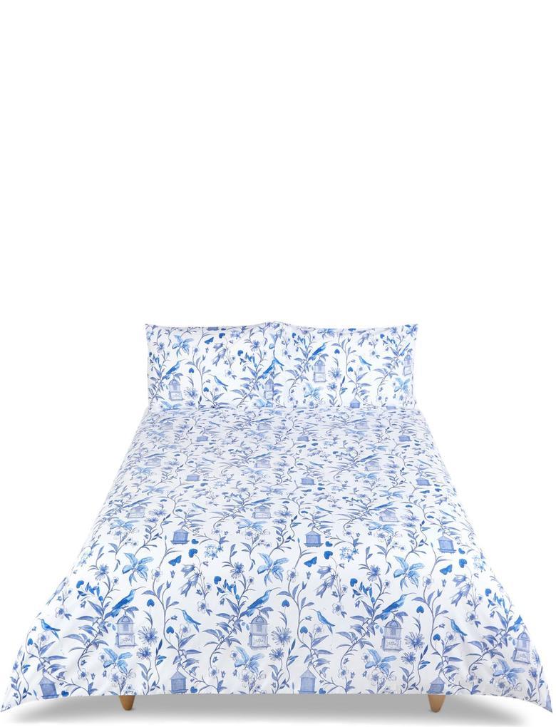 Mavi Desenli Yatak Takımı