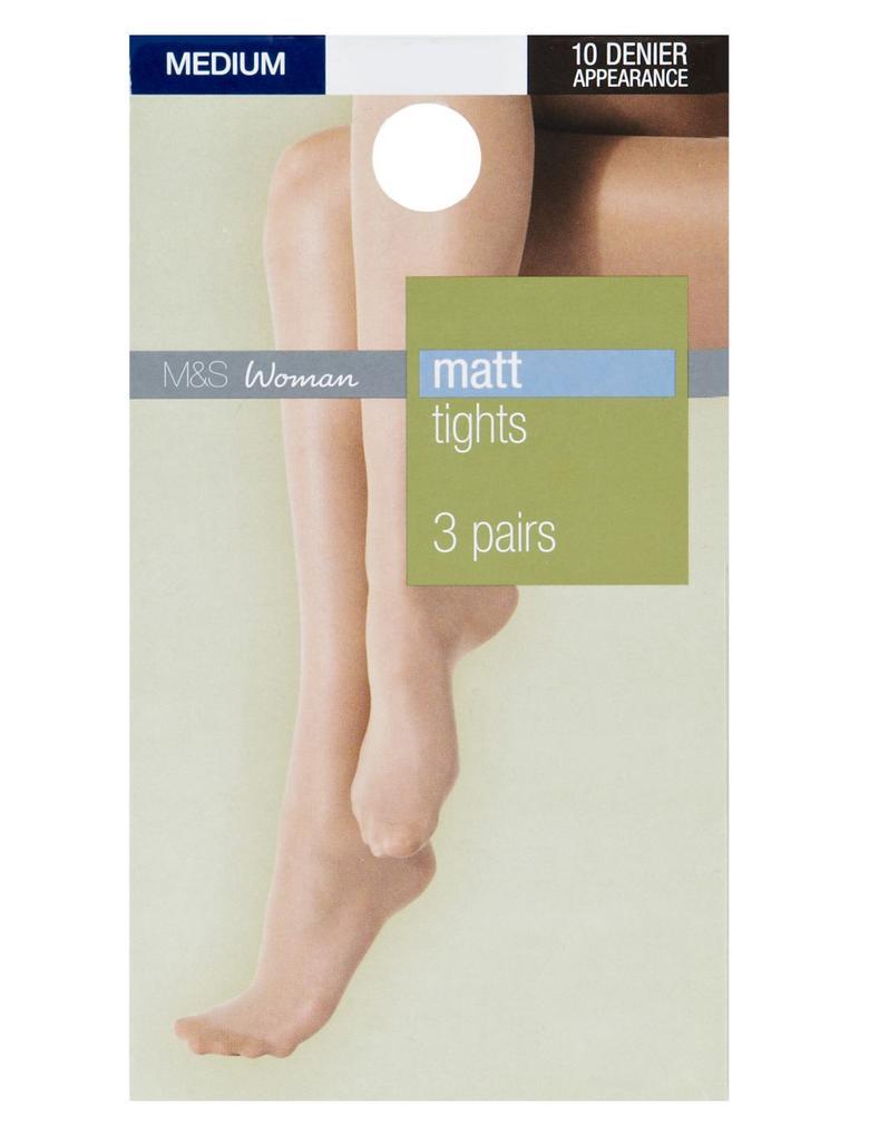 3'lü 10 Denye Külotlu Çorap Seti