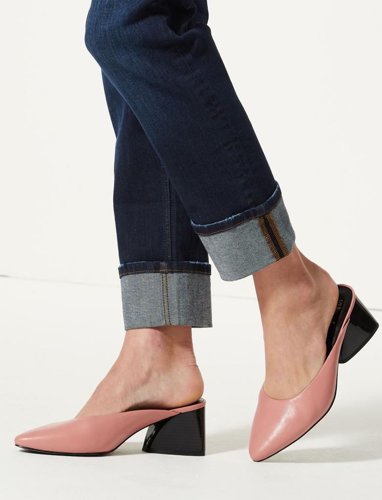 Pamuklu Relaxed Slim Leg Jean Pantolon