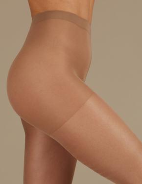 3'lü 15 Denye Işıltılı Külotlu Çorap Seti