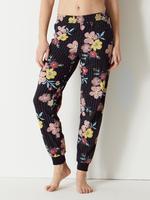 Pamuklu Çiçek Desenli Pijama Takımı