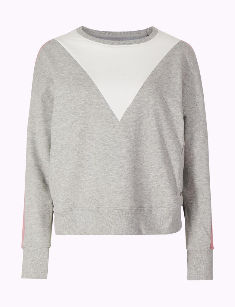 Gri Hızlı Kuruyan Sweatshirt