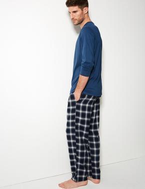 Pamuklu Ekose Pijama Takımı