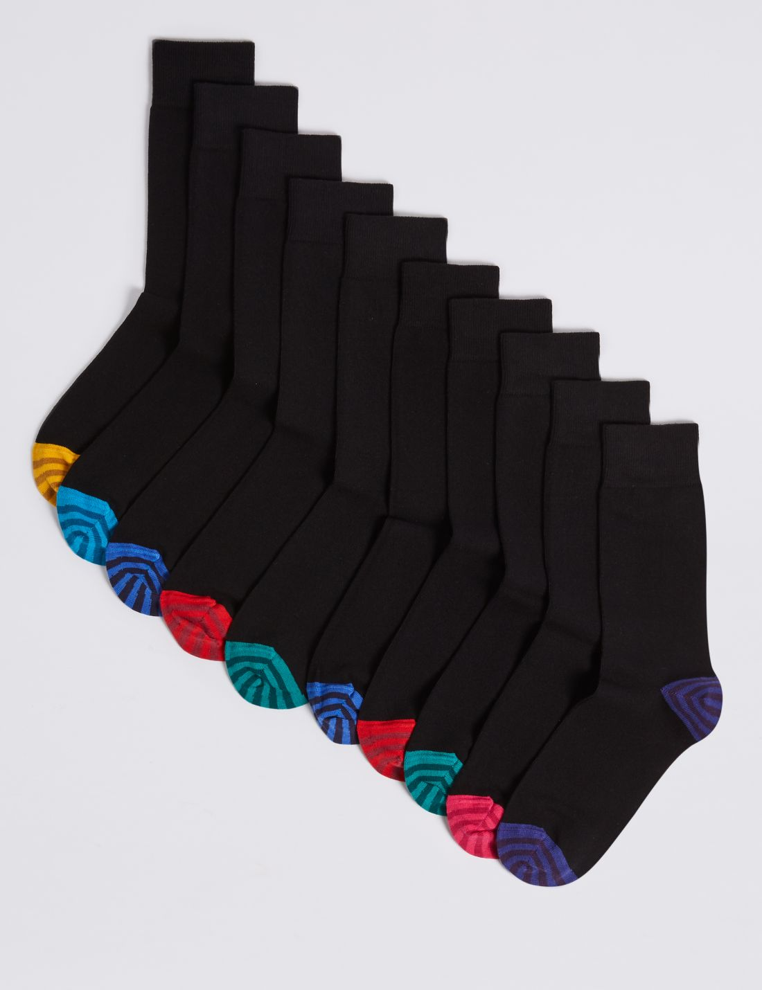 10'lu Cool & Freshfeet™ Pamuklu Çorap Seti