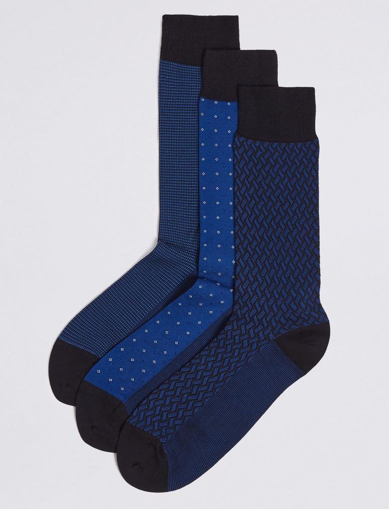 3'lü Pamuklu Çorap Seti Seti